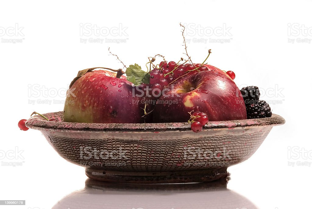 dish with fruits royalty-free stock photo