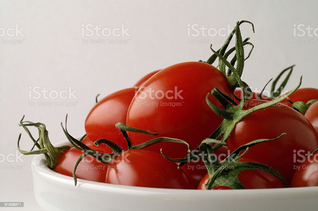 Dish with tomatoes (horizontal) royalty-free stock photo