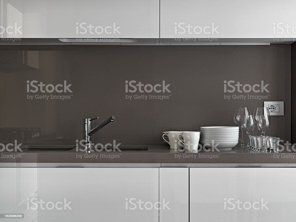 dishes in the kitchen royalty-free stock photo