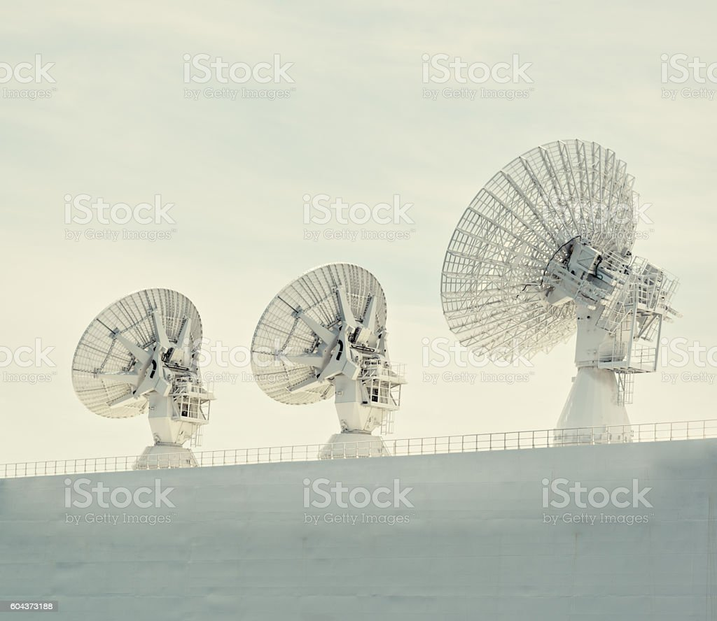 Dishes in the Sky stock photo