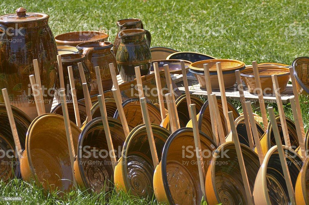 Dishes market royalty-free stock photo