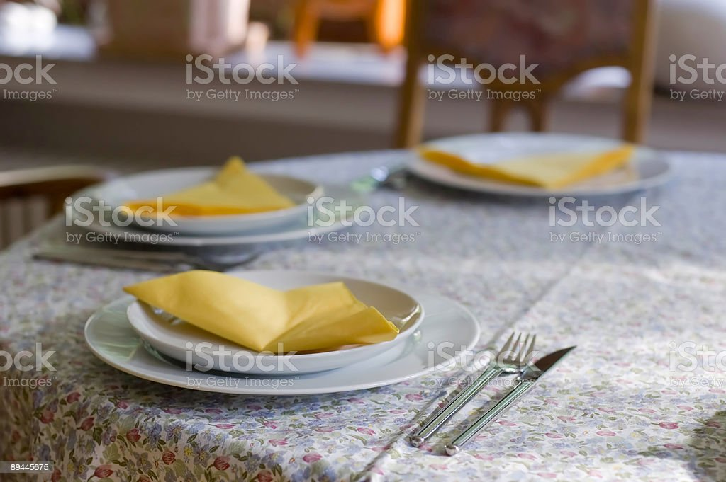 Dishes on a Table stock photo