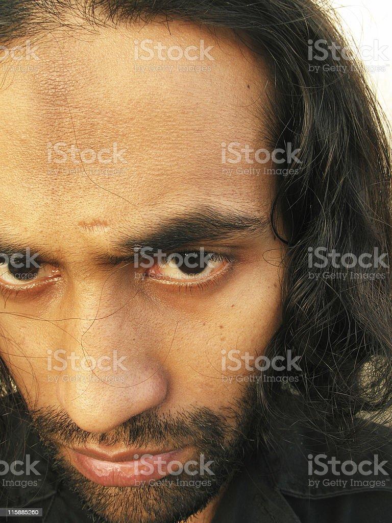 Disheveled man royalty-free stock photo
