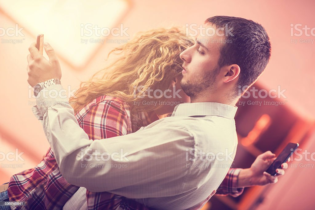Dishonest relationship. stock photo