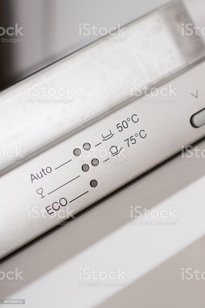 Dishwasher controls stock photo
