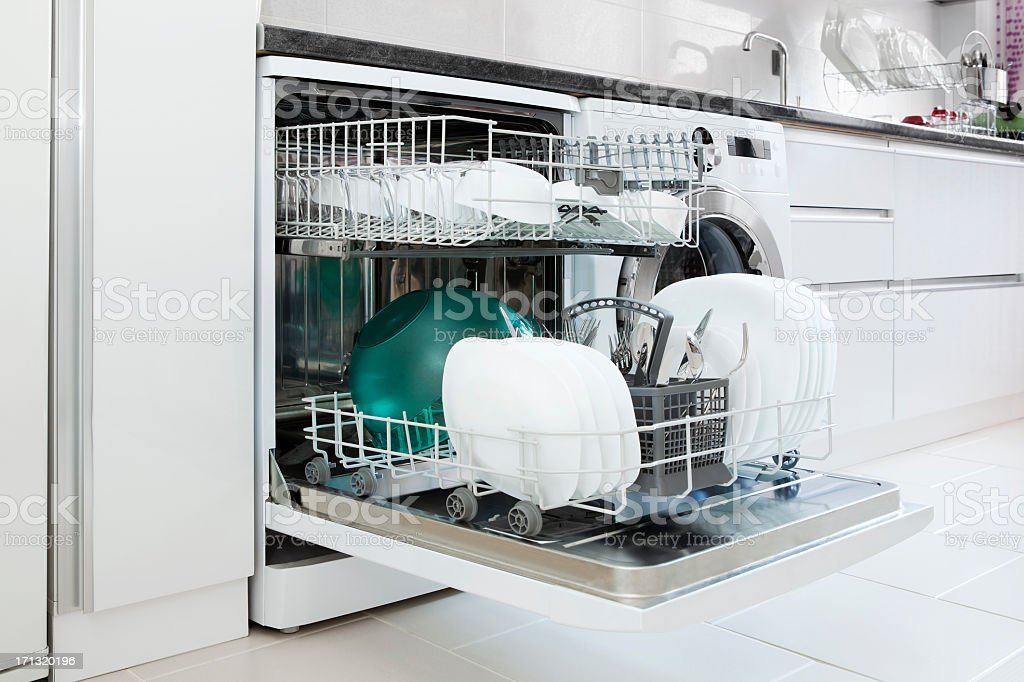 dishwasher stock photo