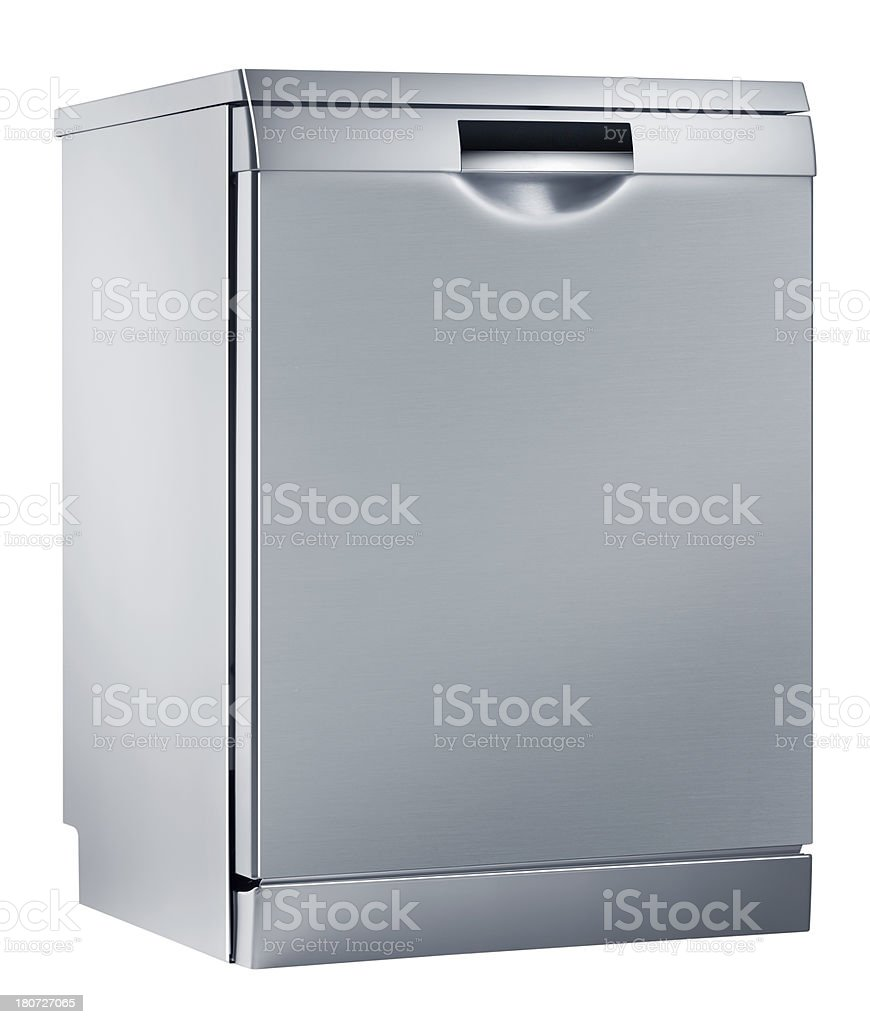 Dishwasher (isolated with clipping path over white background) royalty-free stock photo