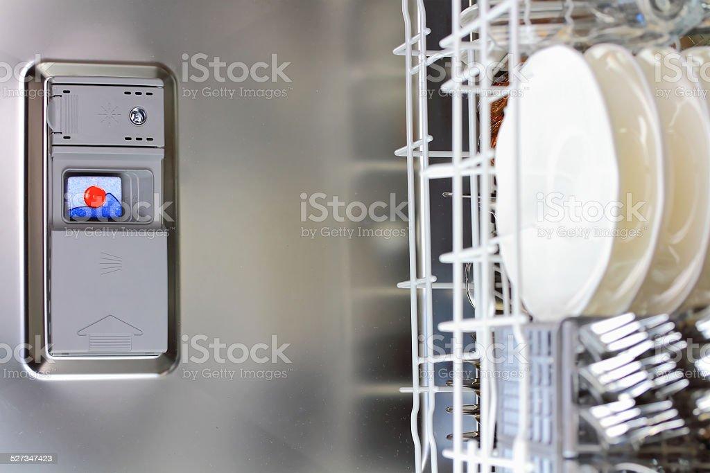 dishwasher tab stock photo