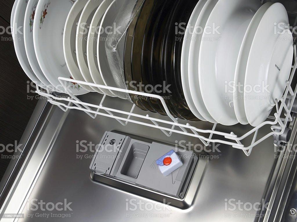 dishwasher tabs stock photo