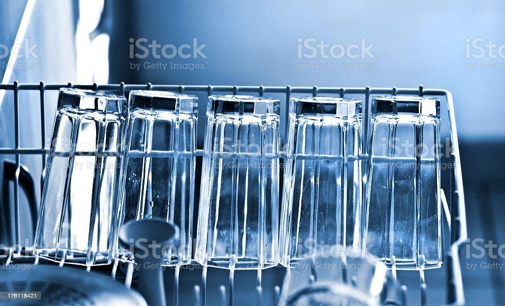 dishwasher with drinking glasses stock photo