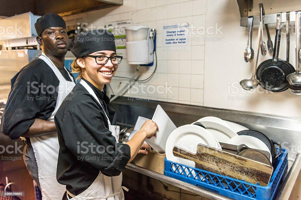Dishwashers stock photo