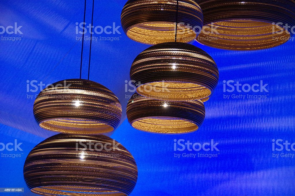Disign lights on stage stock photo