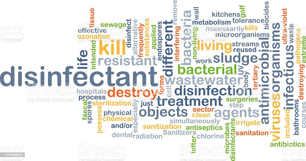 Disinfectant background concept stock photo