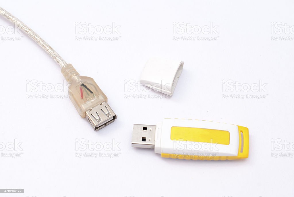 U disk and USB interface royalty-free stock photo