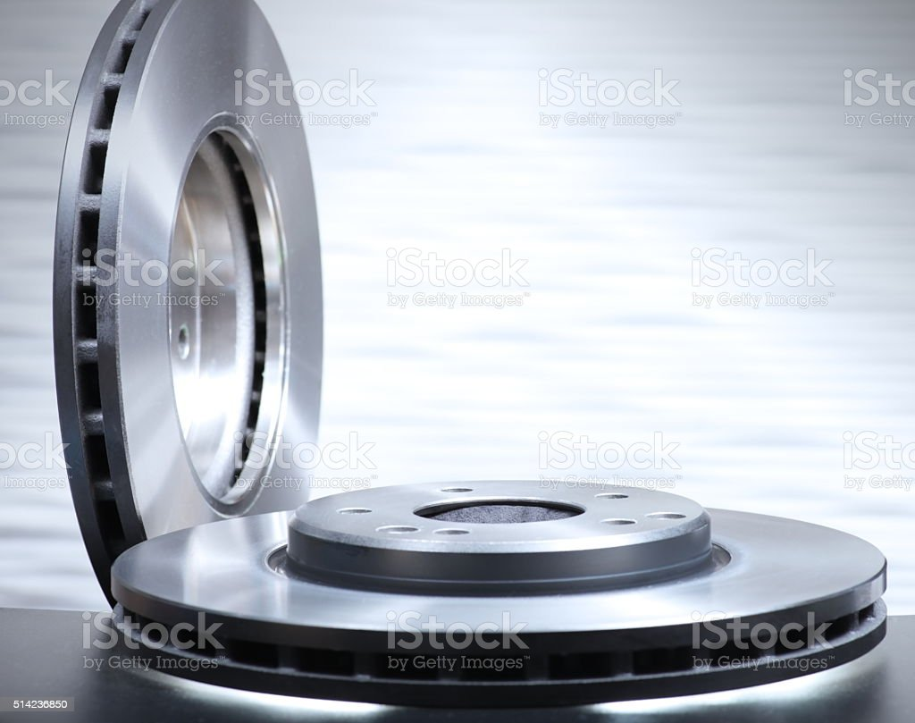 Disk Brake Rotors stock photo