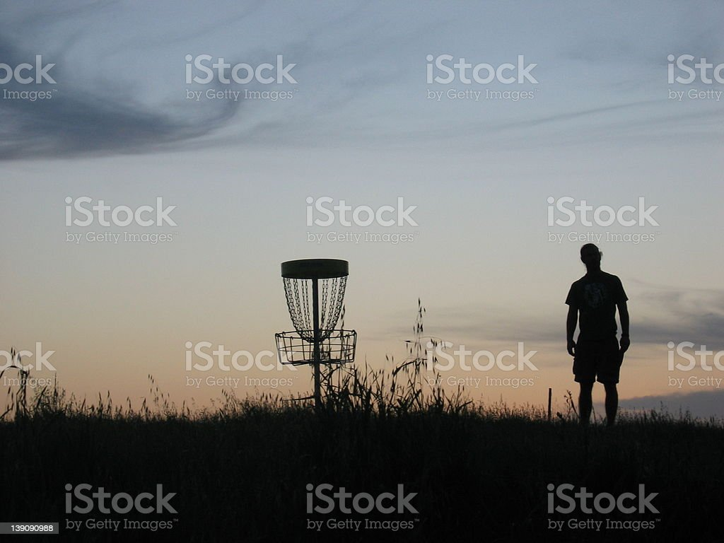 Disk Golf Player stock photo
