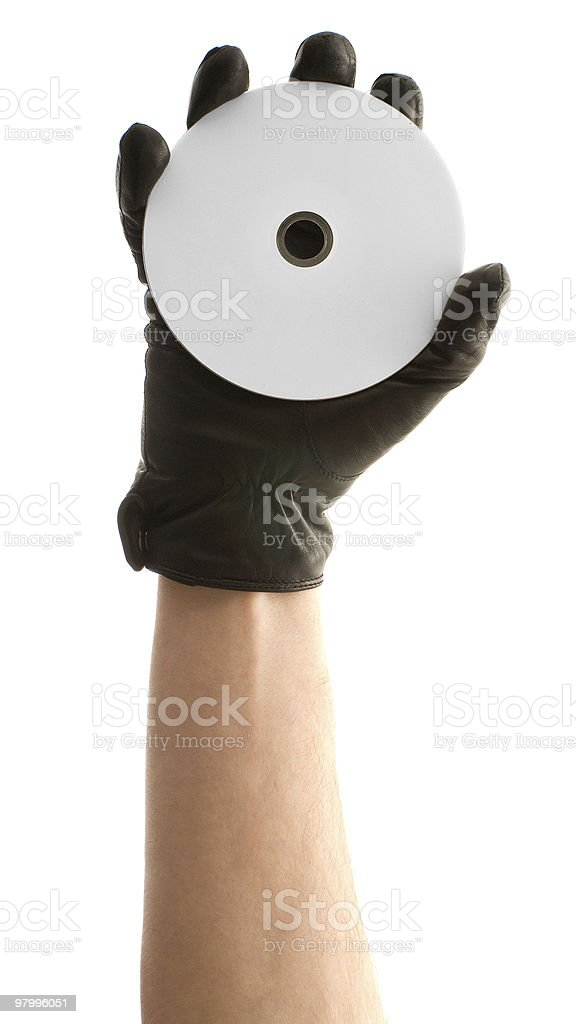 Disk in the hand royalty-free stock photo