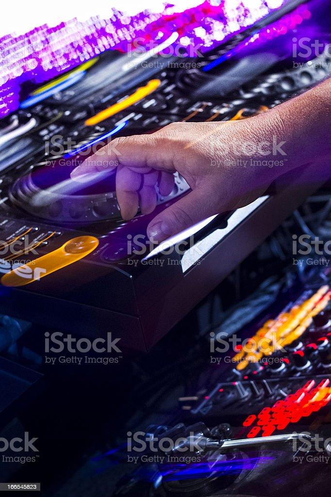Disk Jockey hand royalty-free stock photo