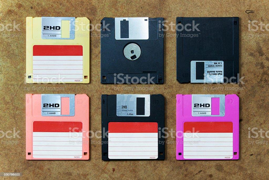 disk or floppy disk stock photo