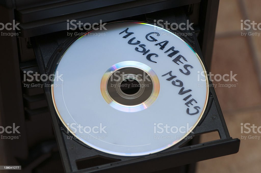 disk with games, music and movies royalty-free stock photo