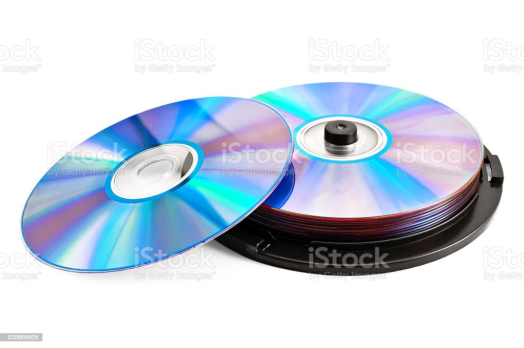 Disks in the package stock photo