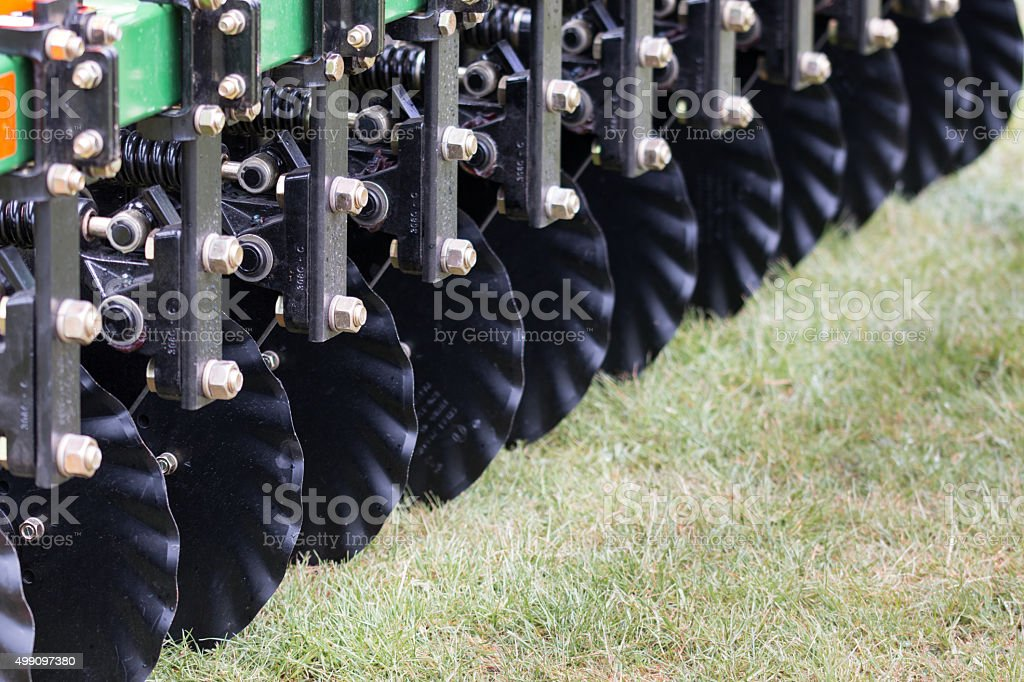 Disks of a cultivator stock photo