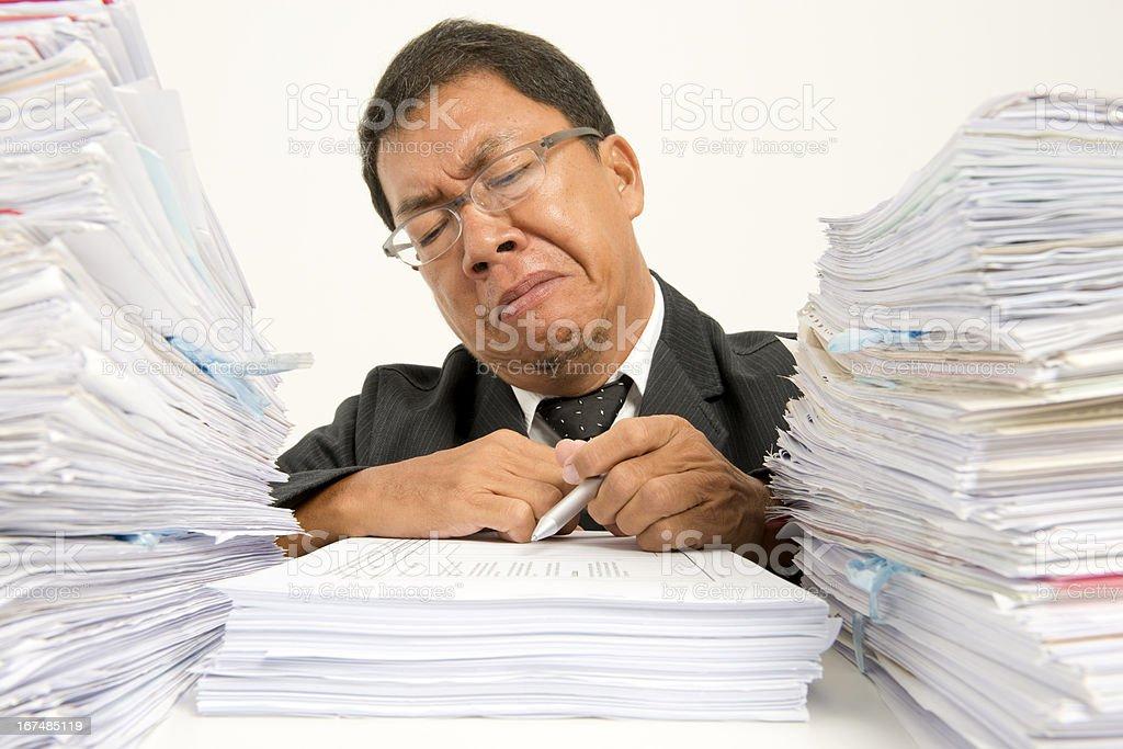 Dislike paperwork royalty-free stock photo