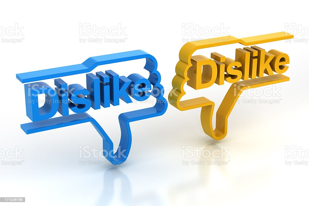 Dislike royalty-free stock photo