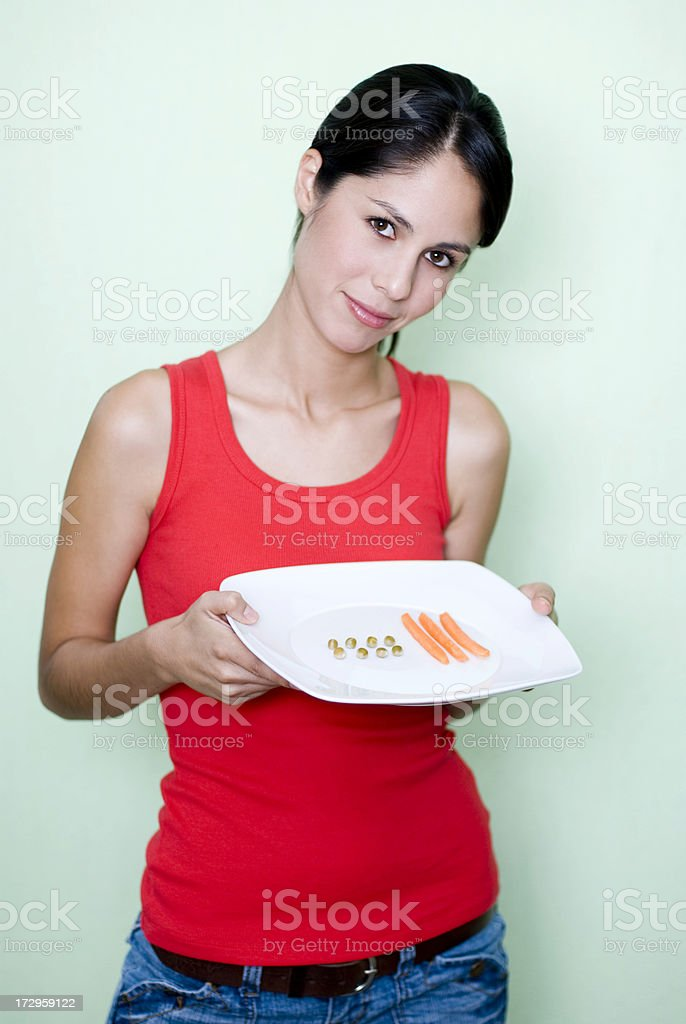 Disliking the meal royalty-free stock photo