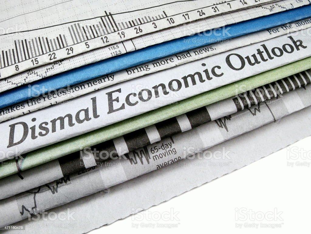 Dismal Economic Outlook stock photo
