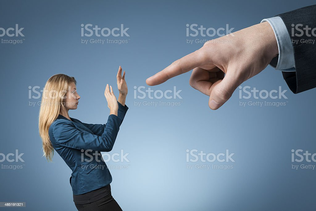 Dismiss her from employment stock photo