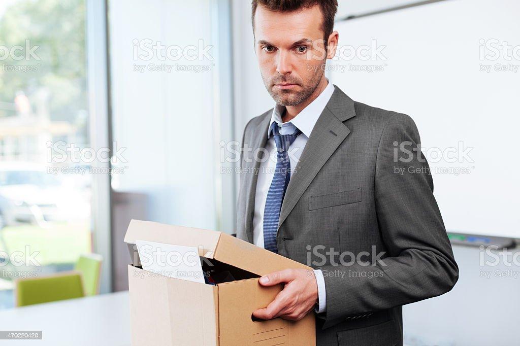 Dismissed businessman stock photo