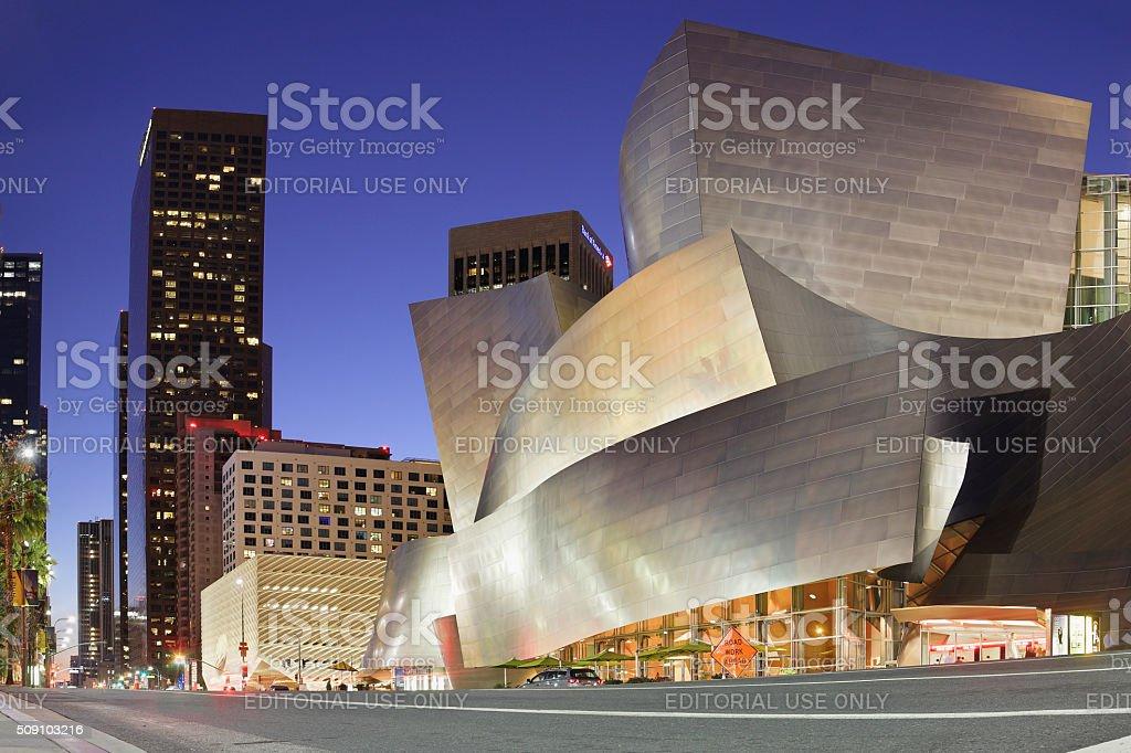 Disney Concert Hall - Grand Avenue - Los Angeles stock photo