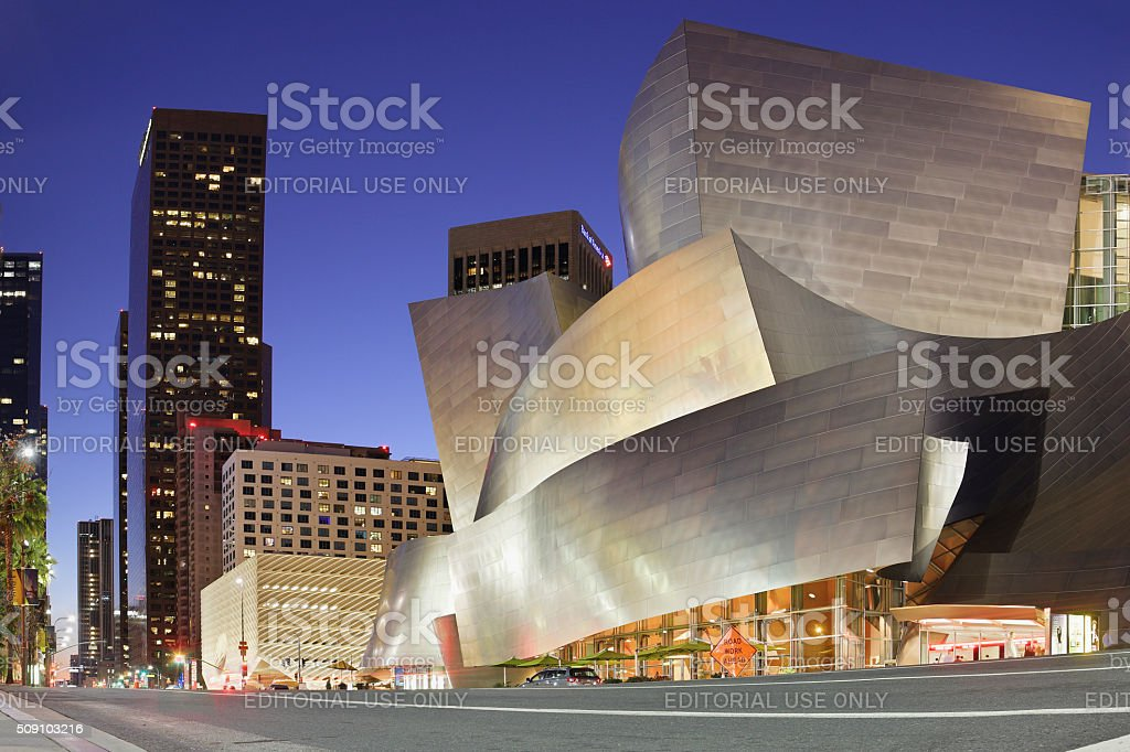 Disney Concert Hall - Grand Avenue - Los Angeles stock photo