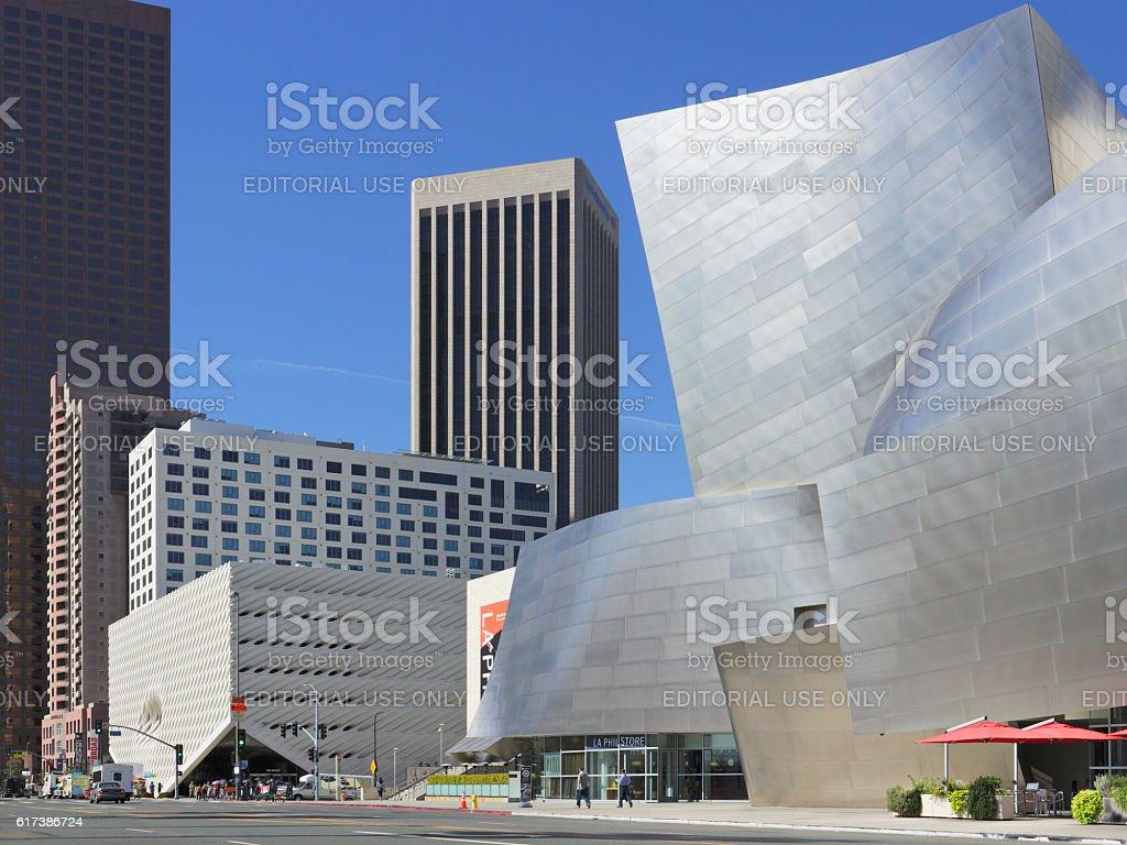 Disney Concert Hall - The Broad - Los Angeles stock photo