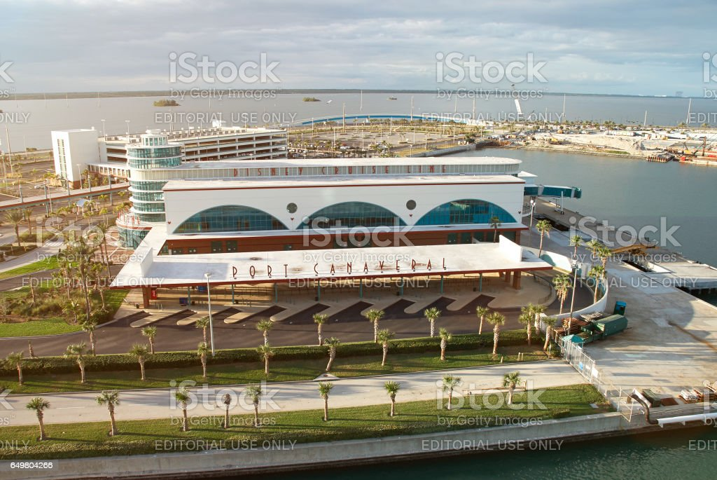 Disney cruise line terminal port stock photo