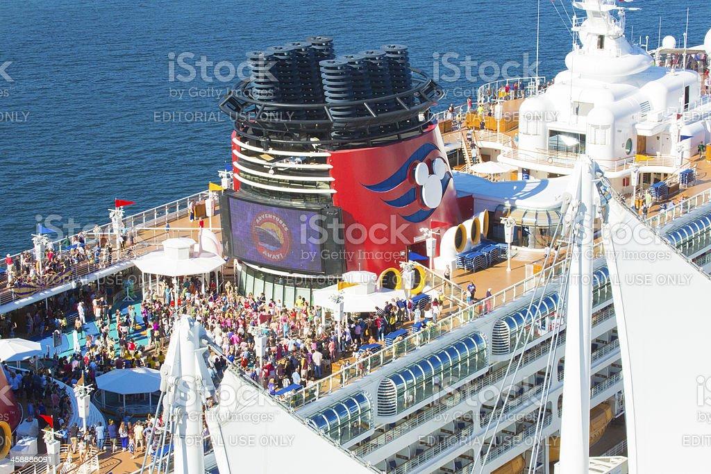 Disney Cruise line the Wonder leaving Vancouver Canada stock photo