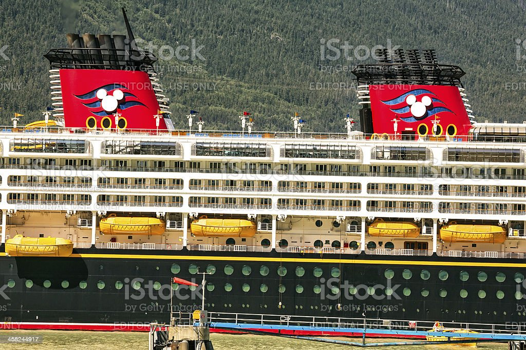 Disney cruise ship docked in Vancouver, Canada stock photo