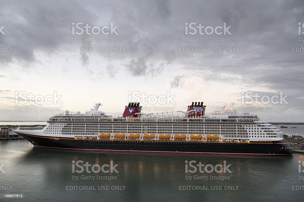 Disney Dream docked in Port Canaveral royalty-free stock photo