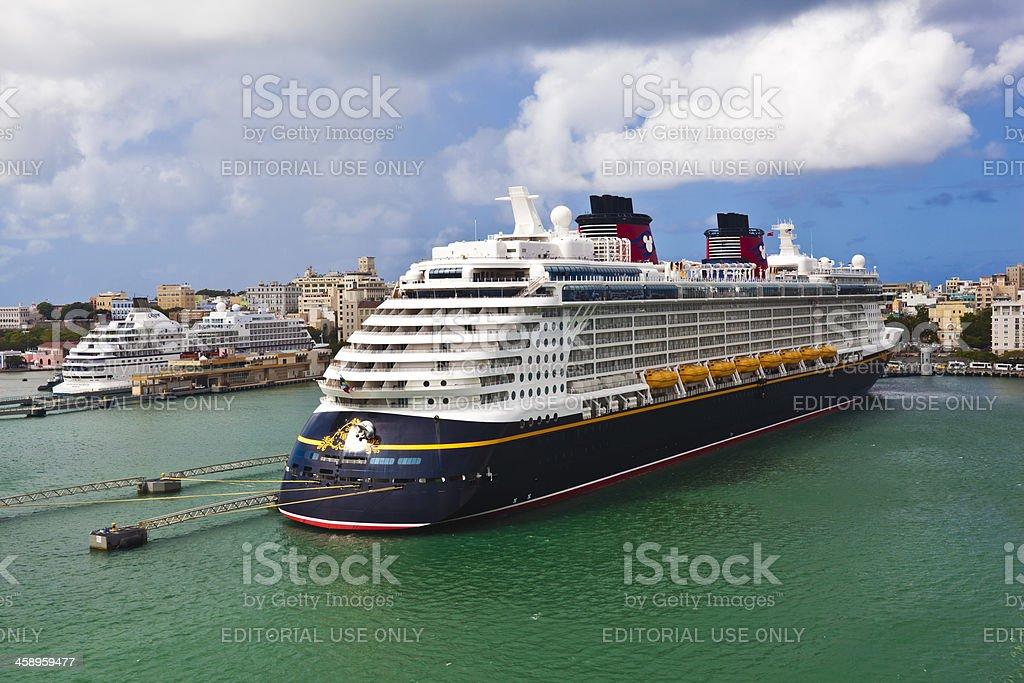 Disney Fantasy Cruise Ship stock photo
