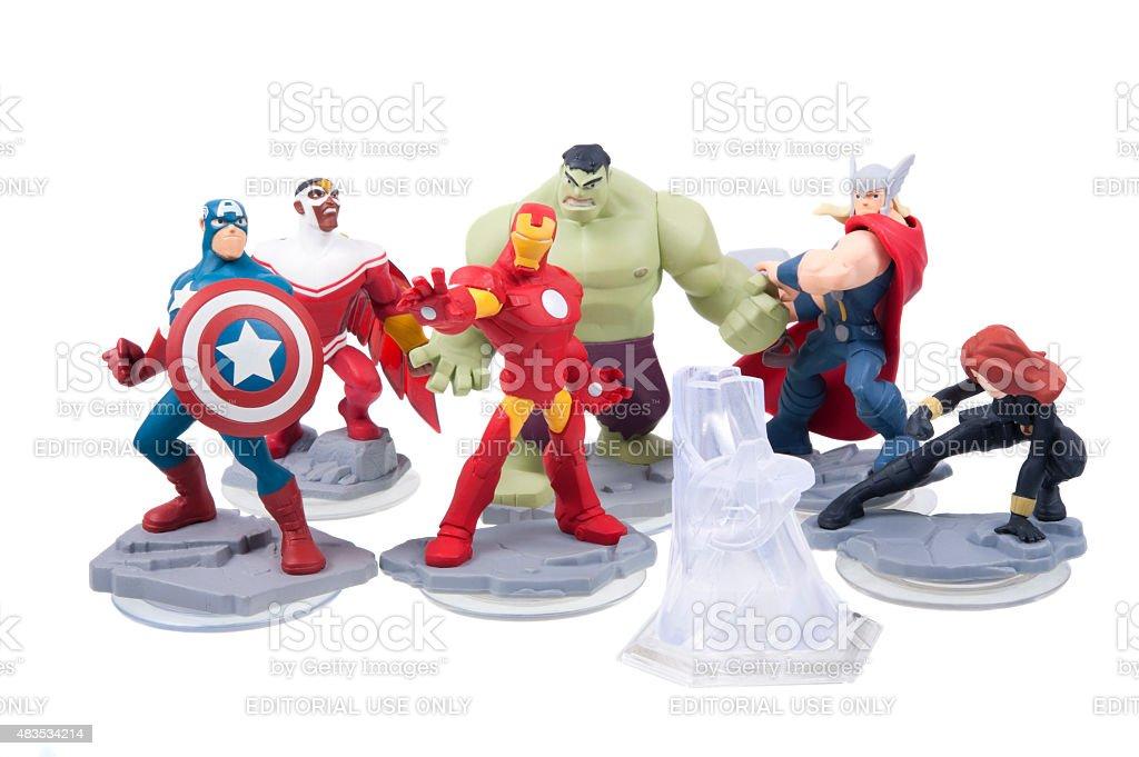 Disney Infinity 2.0 Characters stock photo