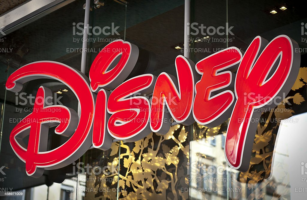 Disney Logo On Shop Window stock photo