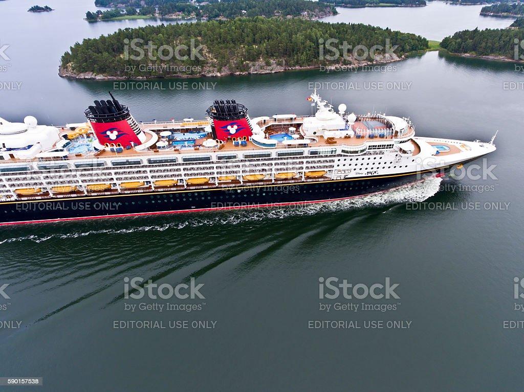 Disney Magic Cruise Ship stock photo