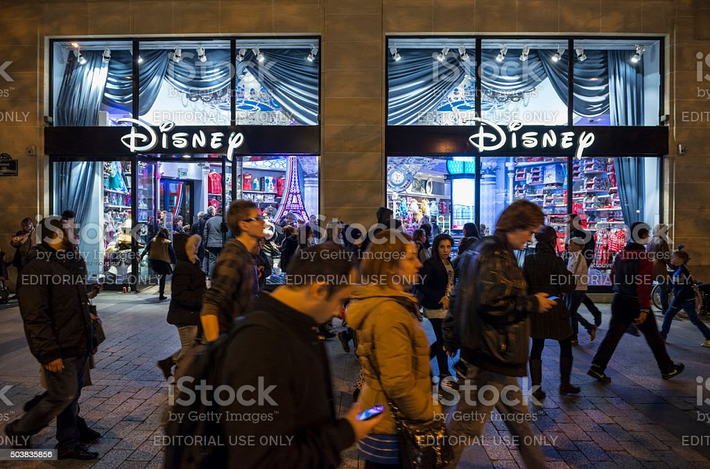 Disney Store in Paris, France stock photo