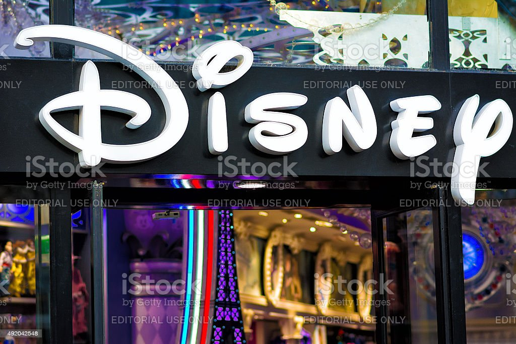 Disney Store in Paris stock photo