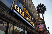 Disney Studio Store and Ghirardelli Sign on Hollywood Boulevard