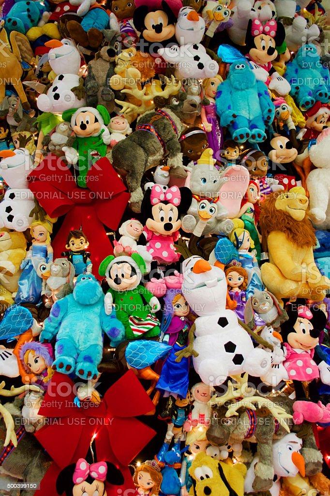 Disney Themed Christmas Tree St Pancras London stock photo