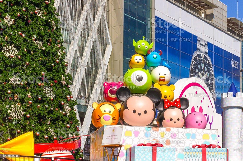 Disney Tsum Tsum Christmas stock photo