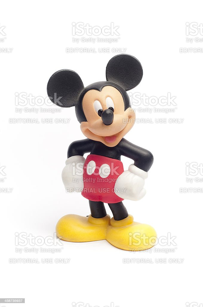 Disney's Mickey Mouse figurine toy stock photo