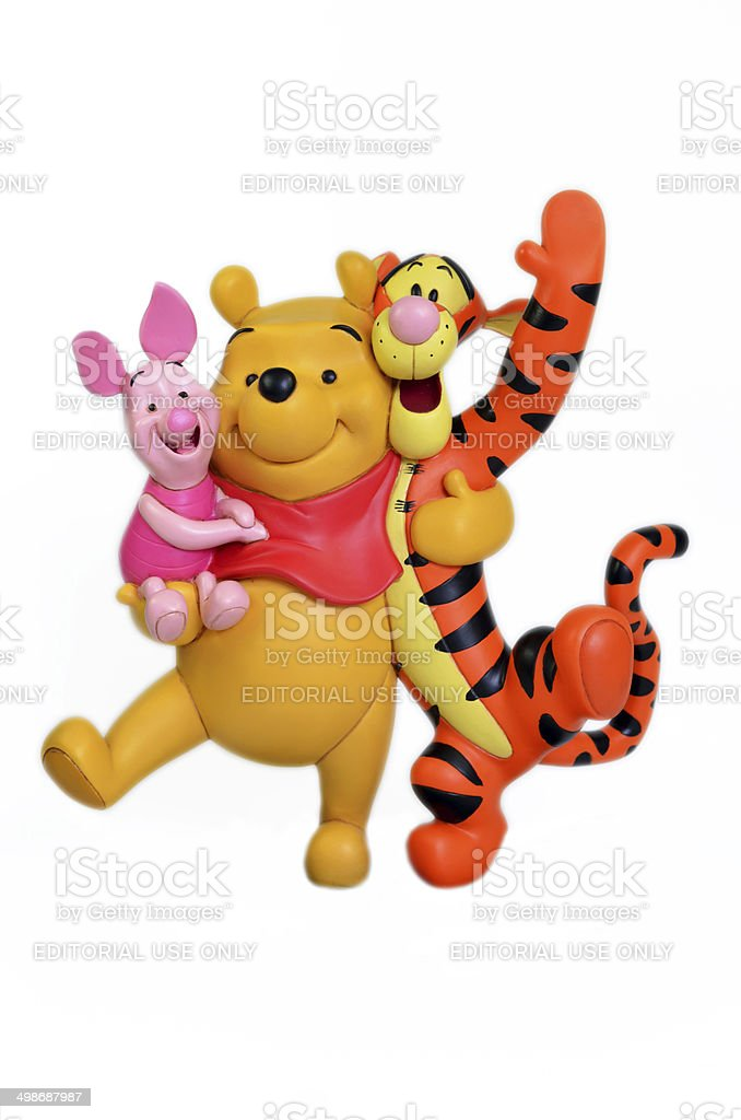 Disney's Winnie the Pooh & friends. stock photo